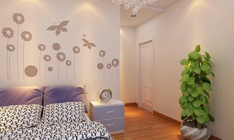 贝壳粉卧室床头图案8