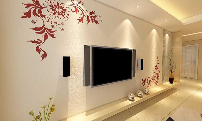 贝壳粉电视墙背景墙图片