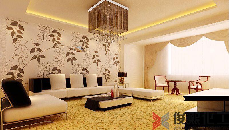 贝壳粉客厅沙发背景墙