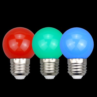 三德士照明 LED球泡灯 小球泡七彩灯3W E27螺旋灯头户口灯具