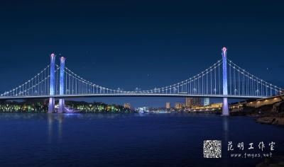 大桥夜景照明设计效果图