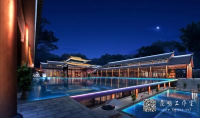 建筑照明设计夜景效果图