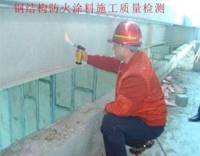 钢结构防火涂料施工质量检测