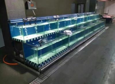 超市海鲜鱼池水产暂养缸定做 ***海鲨水族工厂