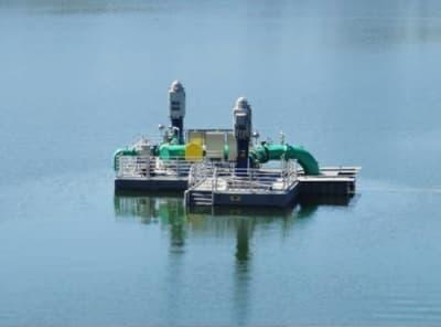 Floating pump station
