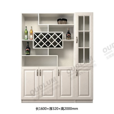 客厅装饰玄关酒柜 餐厅餐边柜 4门对开门酒柜