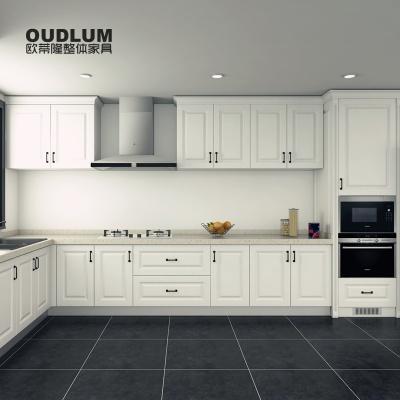 常州全屋定制 欧蒂隆家具白色整体橱柜定做厨房厨柜定制欧式U形C301