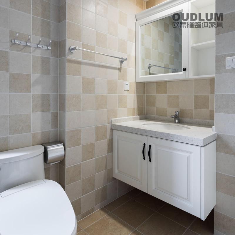 WYG1903.全屋装修定制 挂壁式 模压门 台下盆卫浴柜