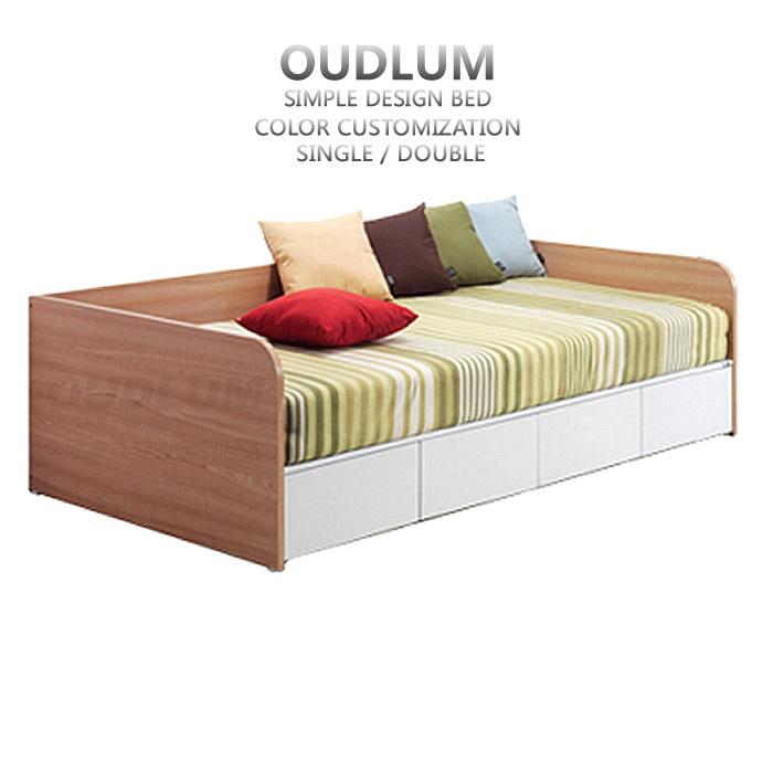 创意日式家具板式床1.2米单人床榻榻米抽屉床储物沙发床R101H