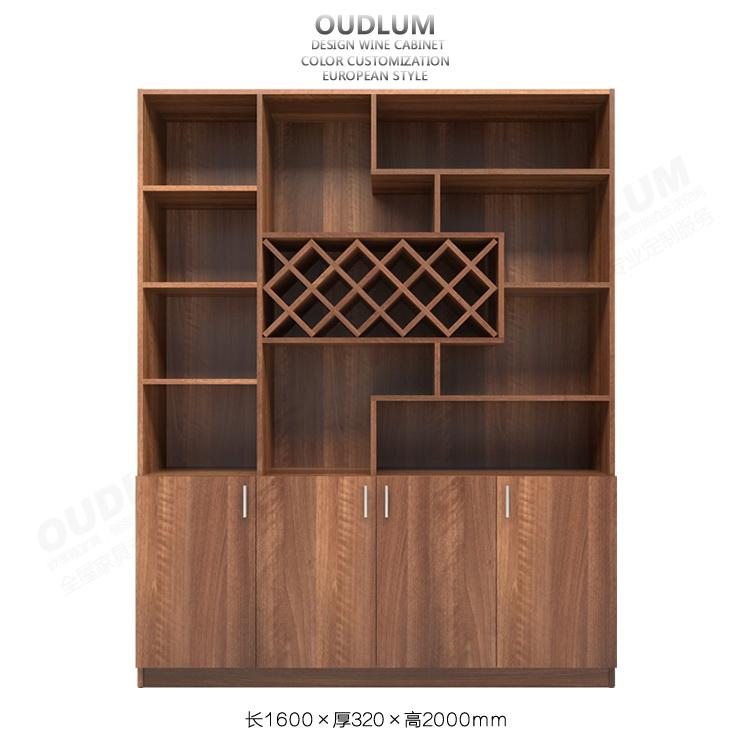 欧蒂隆 现代简约餐厅酒柜可定制多功能隔断玄关红酒柜餐边柜JG03