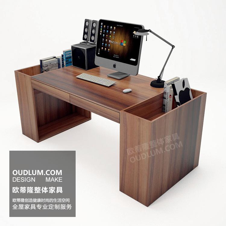 简约现代书房家具定制个性家用电脑桌写字台 创意书桌SMS01