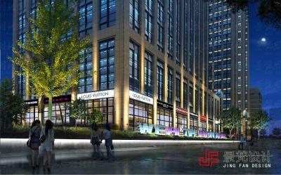 商业街照明设计夜景效果图