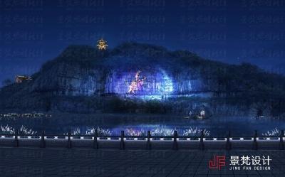 山体投影效果图