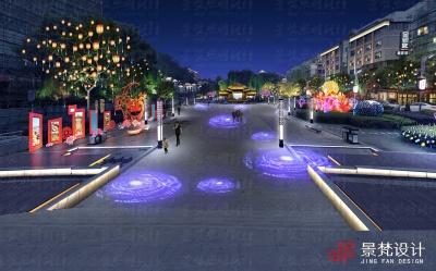 广场灯光节日照明设计