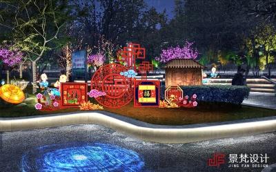 广场节日灯光照明设计