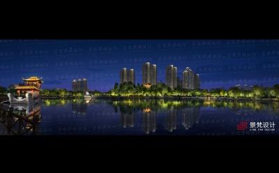 景观夜景效果图长卷