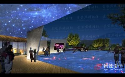 公园夜景照明设计效果图