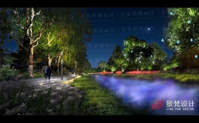 公园夜景照明设计亮化