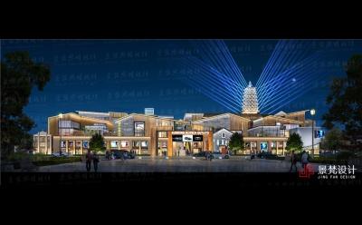 商业街夜景效果图