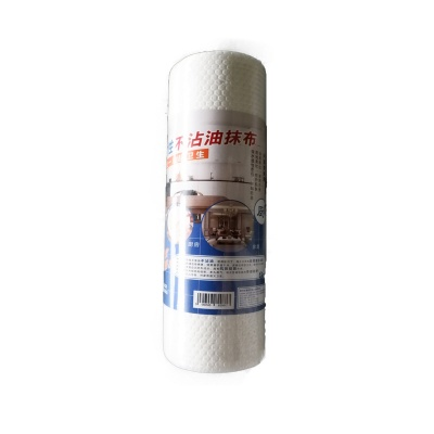 Wood pulp fiber nonwoven wipe in roll
