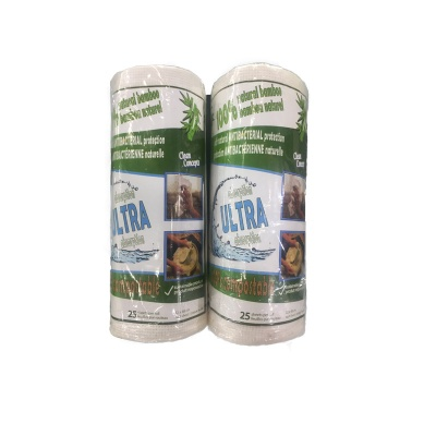 Bamboo fiber wipe in roll