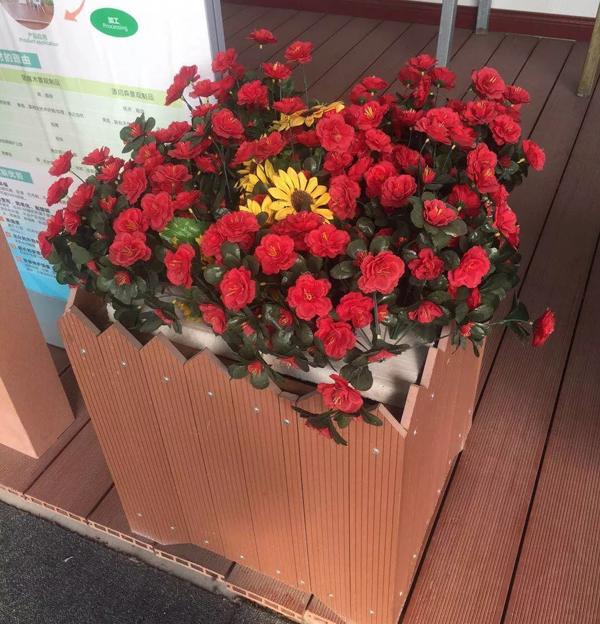 木塑(塑木)花箱--园林景观...