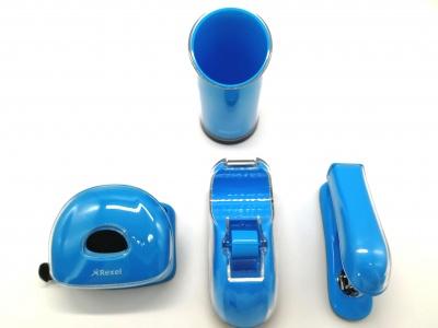 蓝色四件套办公文具套装
