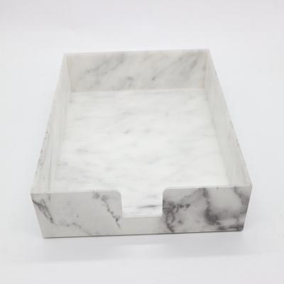 大理石纹亚克力文件盘
