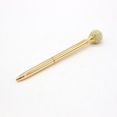 金色水钻球圆珠笔