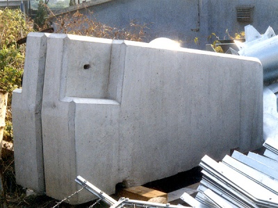 防撞欄石矢躉 Beam Barrier - Anchor Block