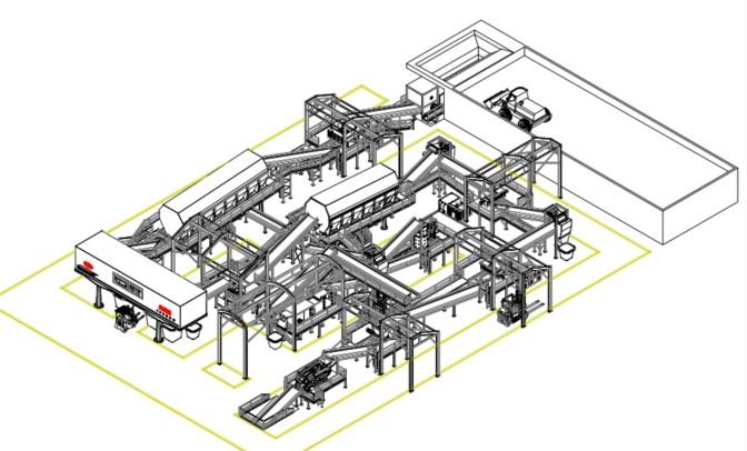 生活垃圾衍生燃料(RDF)项目生产线