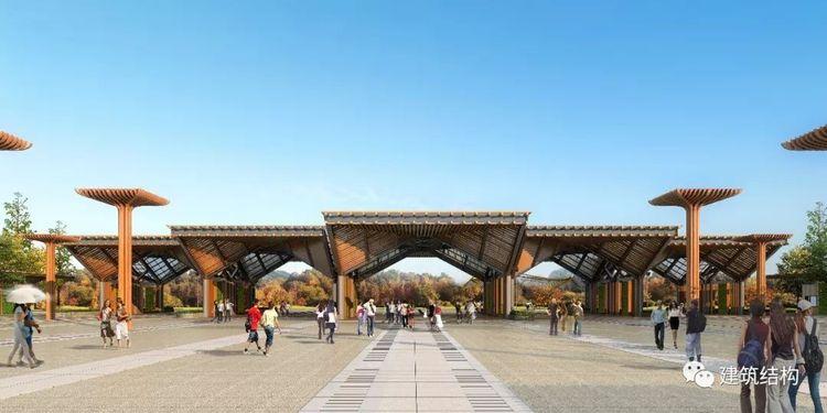 【结构工程师眼中的世园会】匠心设计!钢结构撑起中国传统大门,迎八方来客!