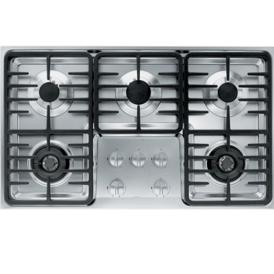New 5-burner stainless built-in hob