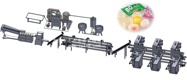 DA-400型水果糖生产线