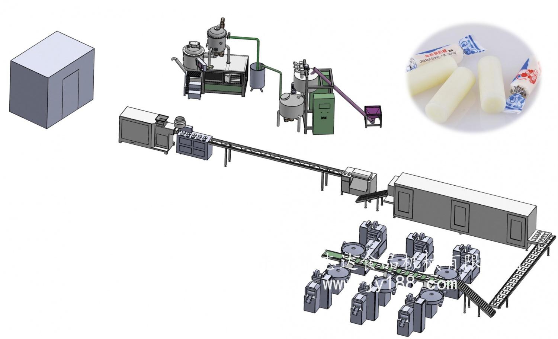 DA-800奶糖、硬糖、圆柱奶糖生产线