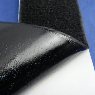 60mm黑色背胶魔术贴/粘扣带毛面BJ-60BL-1