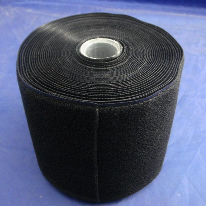 110mm黑色塑料勾背靠背起毛布S3THQM-110BLK