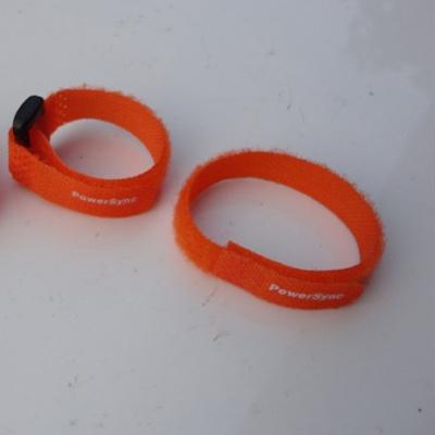 橙色塑料扣粘扣带扎带YBD-12X150ORG-1