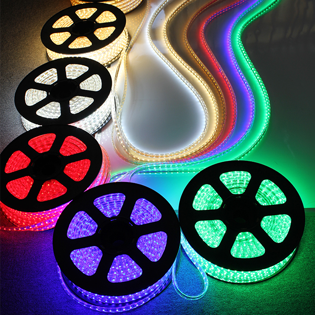 3000K Warm White, Dimmable, Flexible Flat LED Strip Rope Light, Indoor/Outdoor Use