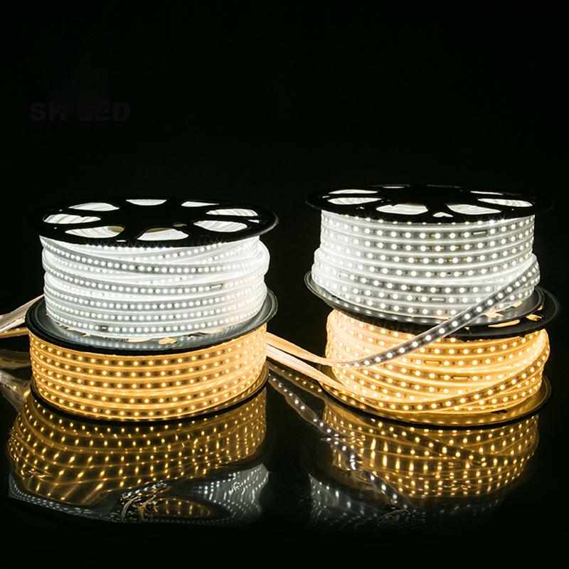 TPU 110v 120v 220v 240v LED Strip 5050 2835 60led/M horizontal led strip light
