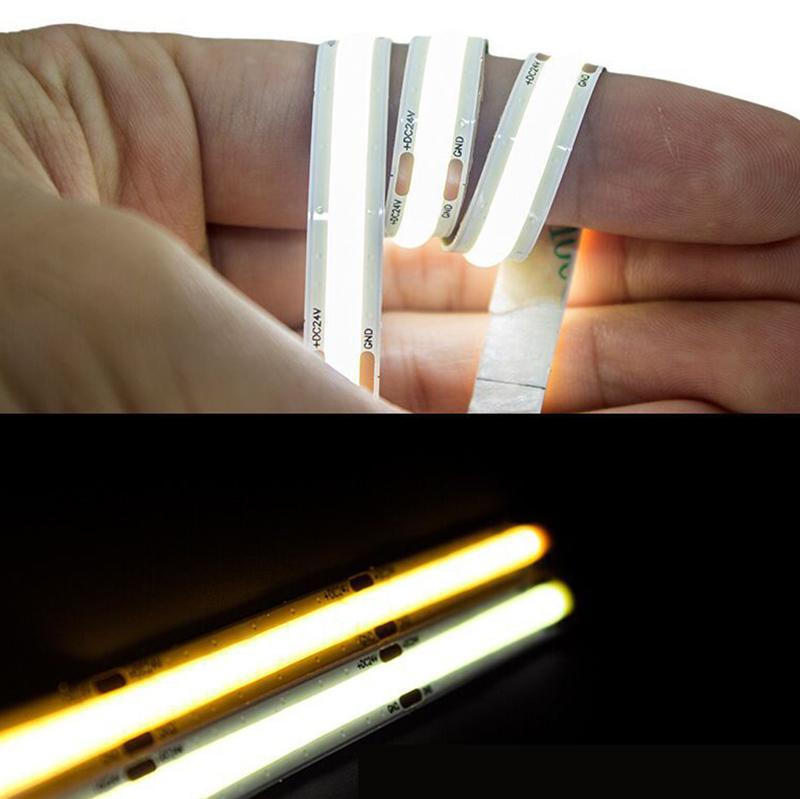 New Flip Chip Technology High CRI 90 DC 24v cob led flexible strip light