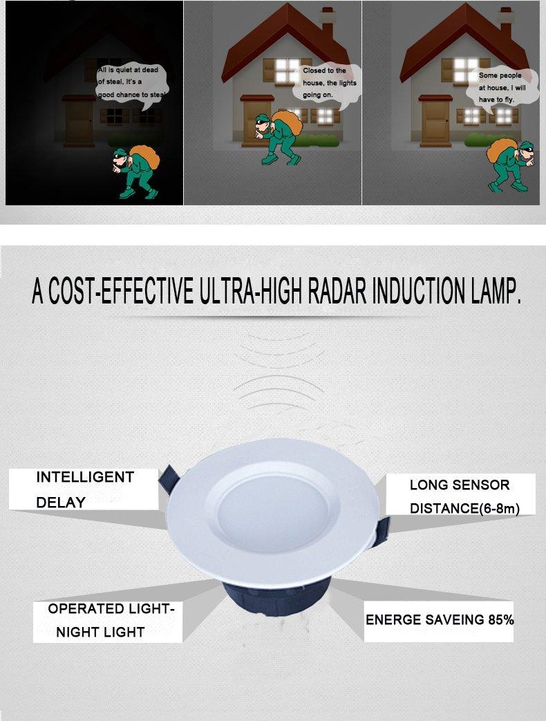 Microwave Sensor Downlight