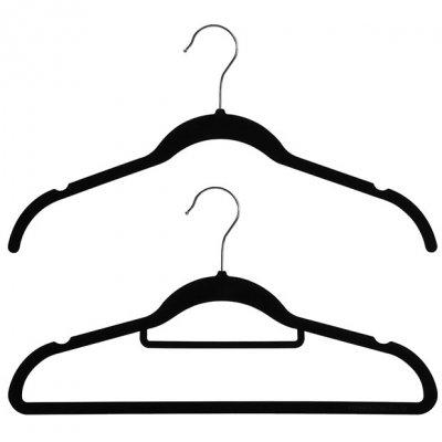 velvet plastic hanger flocked top hanger