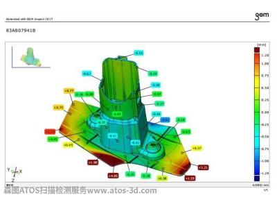 汽车零部件cav蓝光检测高精密扫描检测报告