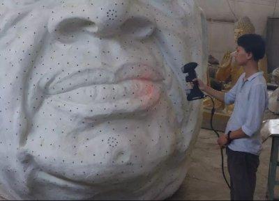 世界最高雕像头部扫描(印度)大尺寸0.2分辨率设计3D细节体现