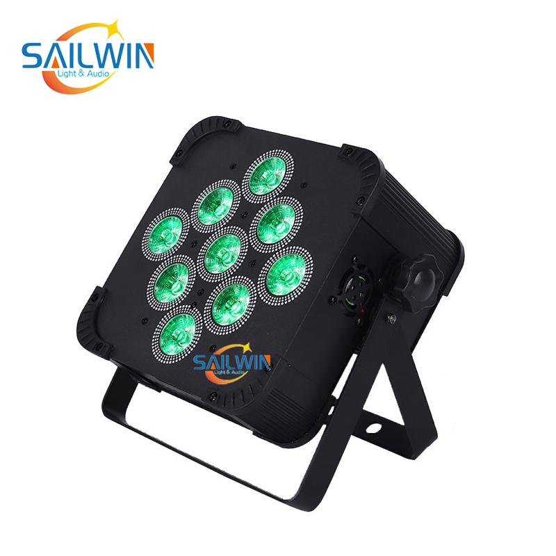 9x18W 6in1 Battery Powered Wireless LED Par Light