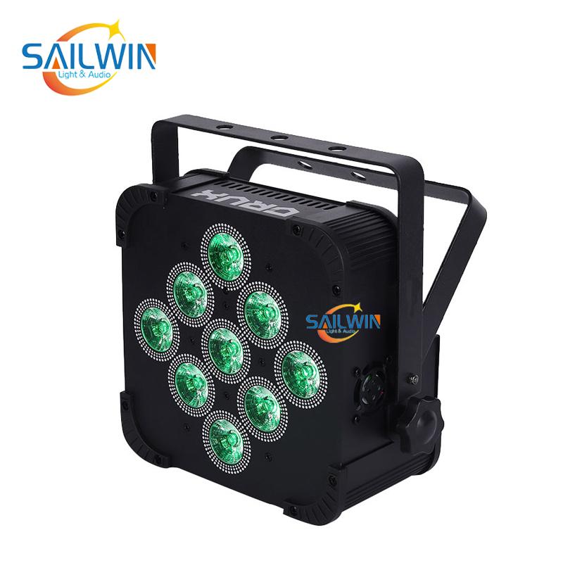 9x10W 4in1 Battery Powered Wireless LED Par Light