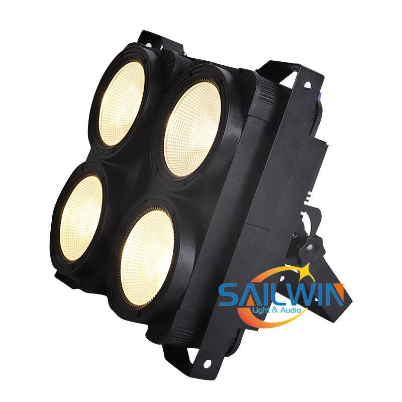 4x100W Warmwhite/Coolwhite COB LED Blinder Audience Light