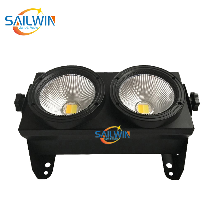 2x100W COB 2in1 Warmwhite/Coolwhite Audience LED BLINDER LIGHT