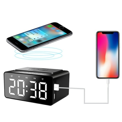 Bluetooth Wireless Digital Clock Speaker With Power Bank